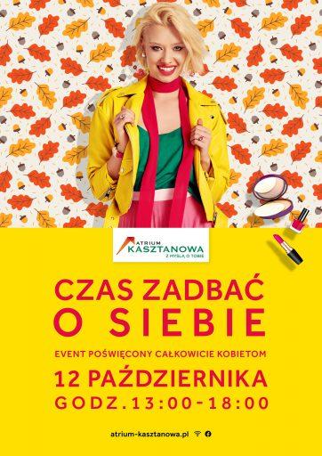 """Jesienna edycja """"Czas zadbać o siebie"""" w Atrium Kasztanowa!"""