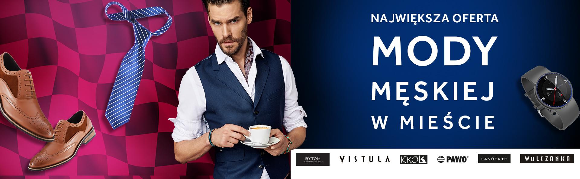 Największa oferta mody męskiej w mieście.