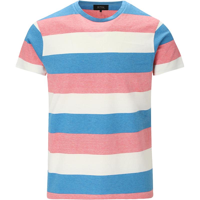 T-shirt w kolorowe pasy